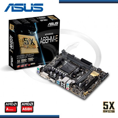 MB ASUS A68HM-E C/VIDEO-SONIDO-RED DDR3 SOCKET FM2 +