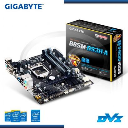 PLACA GIGABYTE GA-B85M-DS3H-A C/ V-S-R LGA1150 M-ATX, BOX