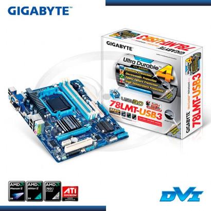 MB GIGABYTE GA-78LMT-USB3  C/ VIDEO-SONIDO-RED DDR3 SOCKET AM3+