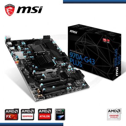 MB MSI 970A-G43 PLUS C/SONIDO- RED DDR3 SOCKET AM3+, ATX