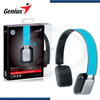 AUDIFONO C/MICROFONO GENIUS HS-920BT BLUETOOTH 4.0  BLACK / BLUE (PN 31710188103)