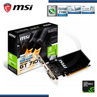 1GB PCI EXPRESS MSI GEFORCE GT710 DDR3 (PN:GT 710 1GD3H-LP)