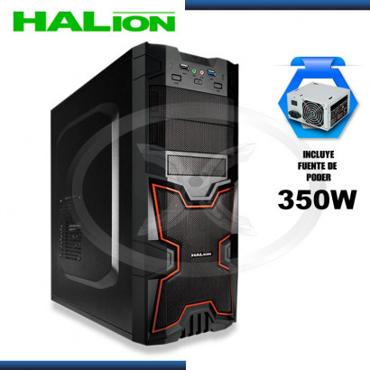 CASE HALION GAMER X-MEN 3313BR ROJO 350 REAL,USB 3.0