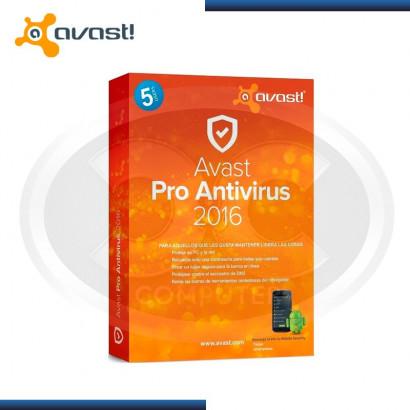 ANTIVIRUS AVAST PRO 2016 5 PC (5155335)