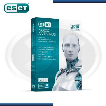 ESET NOD32 ANTIVIRUS EDICION 2016 3PCs, ANUAL