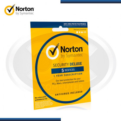NORTON SECURITY 5 DISPOSITIVOS(PC/MAC/TABLET/SMARTPHONE)