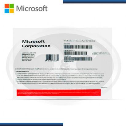MICROSOFT WINDOWS 8.1 PRO 64BIT, ESPAÑOL, OEM