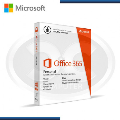 MICROSOFT OFFICE 365 PERSONAL, 1 PC/MAC + TABLET, ANUAL /