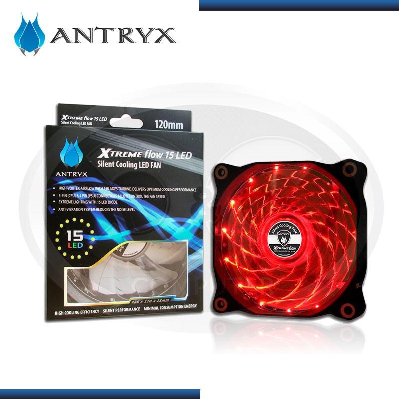 ANTRYX XTREME FLOW RED 15 LED 120MM COOLER PARA CASE