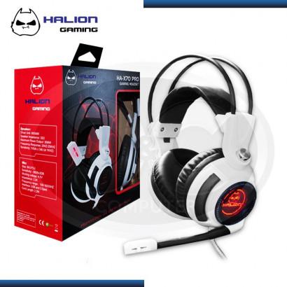 AUDIFONO GAMER HALION GAMING BLACK WHITE 5.1 HA-X70 PRO USB