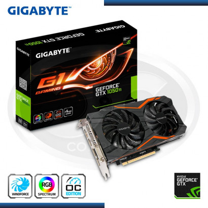 VIDEO NVIDIA GTX 1050TI 4GB GIGABYTE GDDR5 128BIT RGB