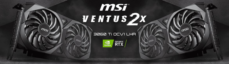 MSI GEFORCE RTX 3060 Ti 8GB GDDR6 256BITS OCV1 LHR VENTUS 2X